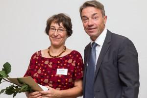 Sabine Polley mit Günter Baaske